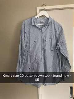 Kmart button down blouse! Size 20