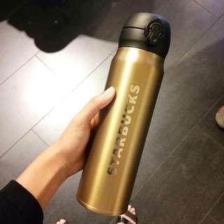 [FREE POSTAGE] Starbucks Gold Thermos #CNYGA
