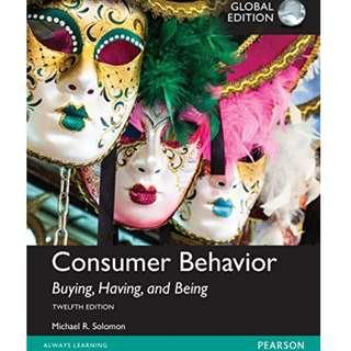 🚚 Consumer Behavior: Buying, Having, and Being 12th global ed