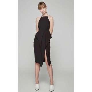 1ba33ea903 Collate - Front Slit Peplum Dress