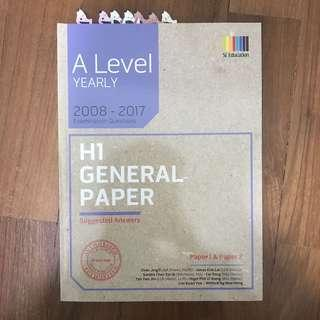 GP general paper 10 year series ANSWERS