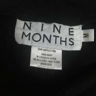 Nine Months Medium sized black Maternity leggings