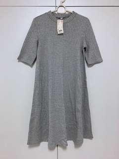 BNWT Uniqlo High-collared Ribbed Dress