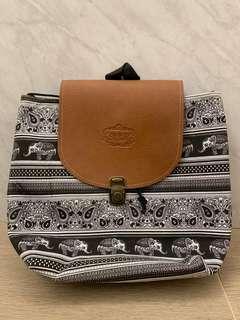 Elephant prints small backpack