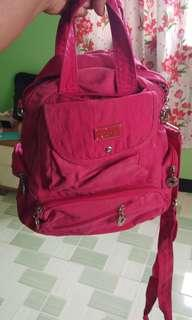 Fuchsia pink sling or back pack