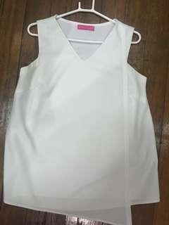 Great Expectations White Sleeveless Maternity Top