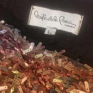 Mike dela Rosa Manila RoseGold Sparkle Designer Dress