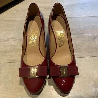 Ferragamo red heels