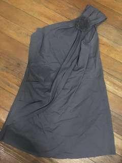 Gray Asymmetrical Dress
