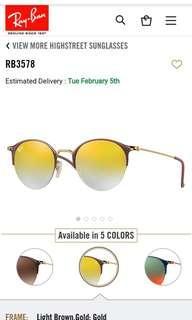 Original Rayban Highstreet sunglasses unisex