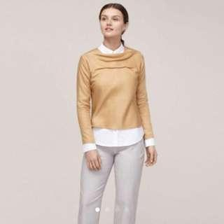 [Like New] Uniqlo x Hana Tajima Brown / Gold Top