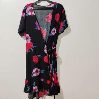 Floral Wrapped Dress