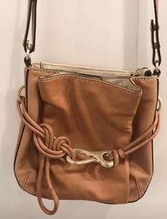 Mimco Tan/Brown Hip Bag