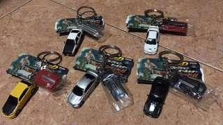 Official licensed Initial D keychain set