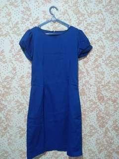 Dress biru formal