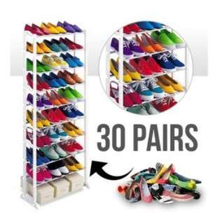 INC POST 💛 ASOTV 10 Tier Amazing Shoe Rack / Scarf / Tudung
