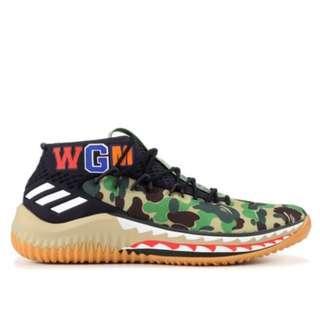 7a4f306af1453b WTS Adidas Bape Dame 4 Green Camo