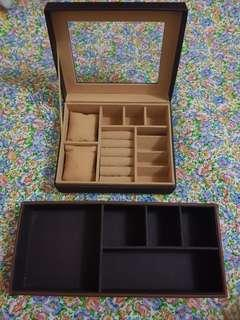 Desk organizer / watch and jewelry organizer display box