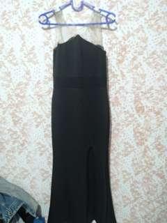 Long dress hitam