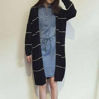 🚚 INSTOCKS Stripes Knit Cardigan in Black