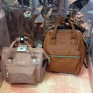 Anello Canvas and.Leather Bag