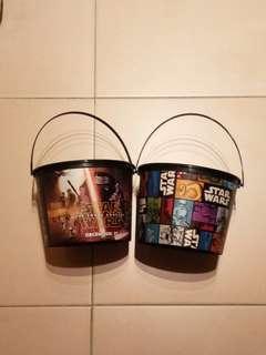 Star wars pop corn bucket set