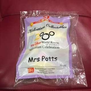 🚚 2000年 麥當勞 絕版 玩具娃娃 Mrs Potts 茶煲太太 茶壺媽媽