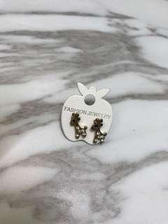 Giraffe rose gold earrings