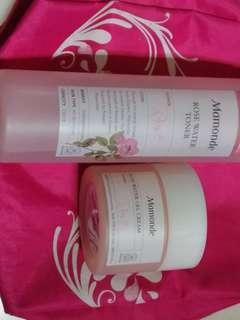 Mamonde toner and gel cream