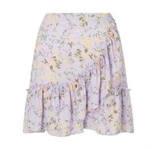 Miss Selfridge Frill details Floral Print Skirt