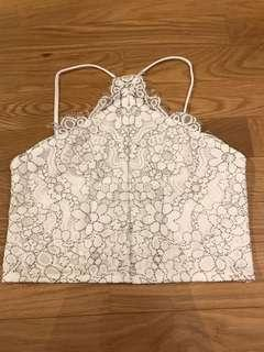 🚚 White Lace Top