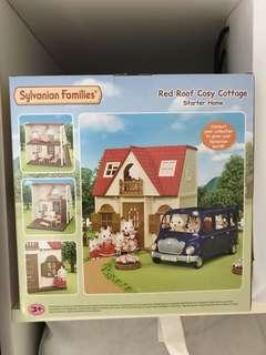 Sylvanian Red Roof Cosy Cottage House