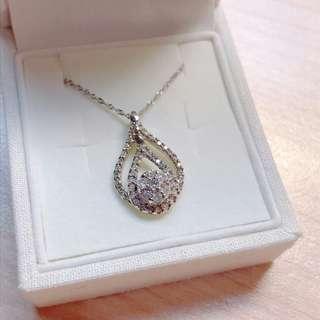 🚚 全新 18k 鑽石項鍊  水滴造型 含鍊