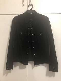 Black corduroy long sleeves fits medium