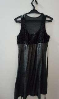 sequence black glittering dress