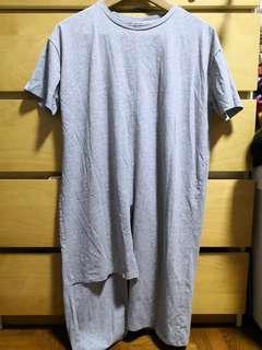 🚚 lalu grey long shirt