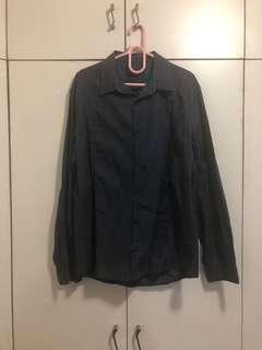 Esprit checkered long sleeves size large