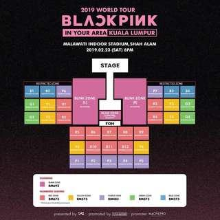(WTS) BLACKPINK In KL concert ticket