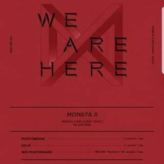 🚚 WTS Monsta X We Are Here Unsealed Albums