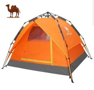 [Brand New] Camel Automatic 3-4 Person Tent