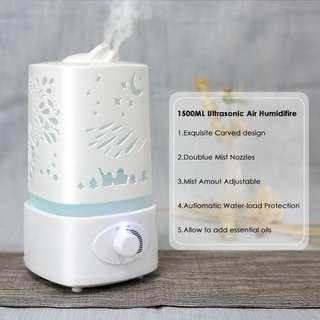 Air Humidifier Large Ultrasonic Aromatherapy Diffuser 1,5L