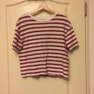 🚚 Uniqlo紅白條紋上衣