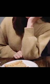 🚚 降!韓國🇰🇷淡黃色毛衣 鵝黃色毛衣 可愛氣質