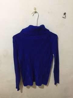 🚚 ❗️極度顯白藍色修身高領毛衣