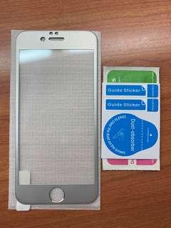 🚚 iPhone 6 / 6S Tempered Glass silver rim