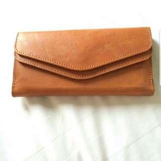 Genuine Leather Flip Wallet - Light Brown #ramadansale