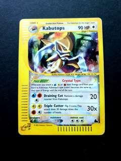Pokemon Card Skyridge Crystal Kabutops