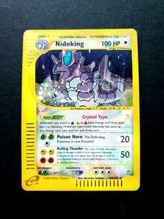 Pokemon Card Aquapolis Crystal Nidoking