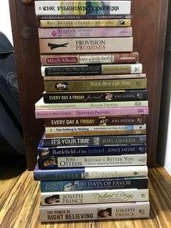 Assortment Various Titles Authors Spiritual Inspirational