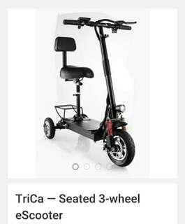 Looking for three wheel escooter (LTA approve)
